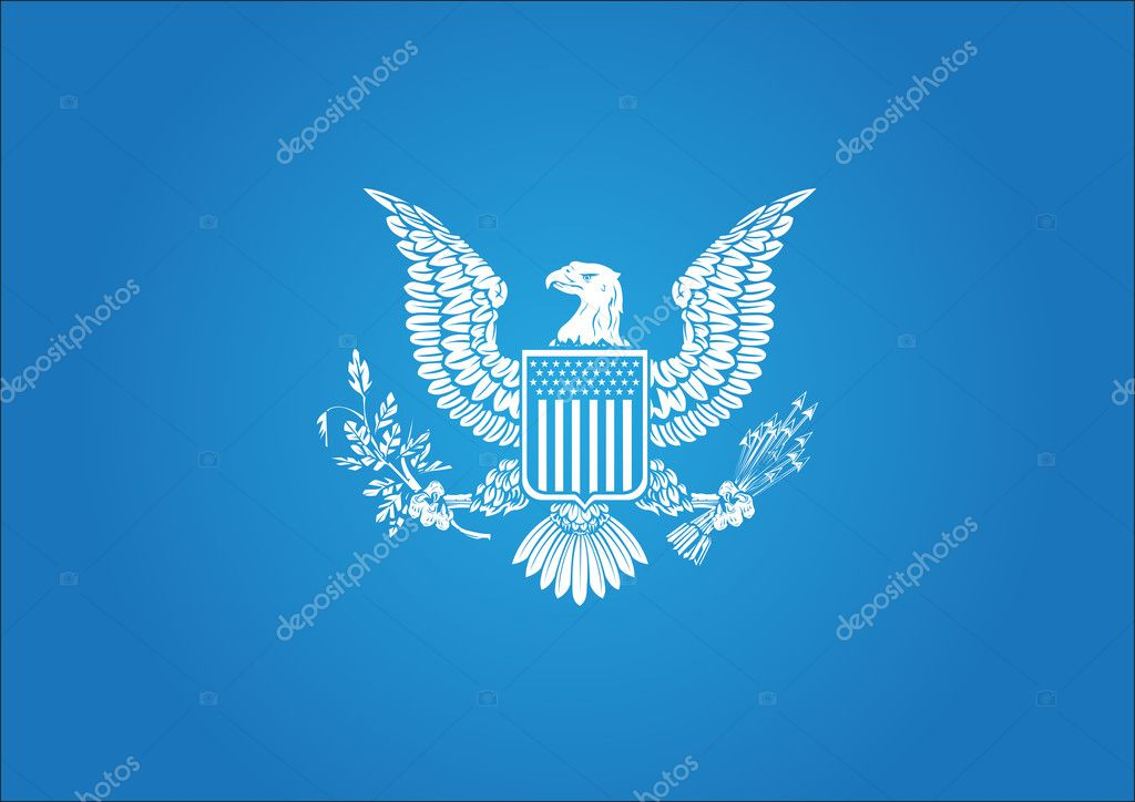 American symbol illustration - blue background — Stock Vector #6430199
