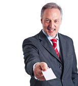 Businessman introducing himself — Stock Photo