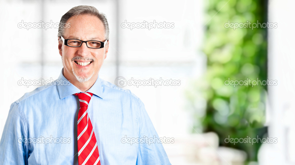 Portrait of a mature businessman isolated on white — Stock Photo #6484228