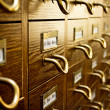 Old Vintage Library Card Catalog — Stock Photo