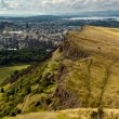 The majestic hill overlooking the city - great for a hike - Stock Photo