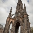 Scott Monument in Edinburgh - Stock Photo