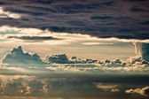 Stormy clouds on baltic sea — Stock Photo