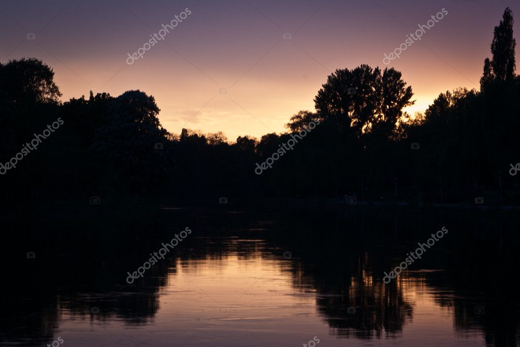 Lake at Sunset  Stock Photo #6445462