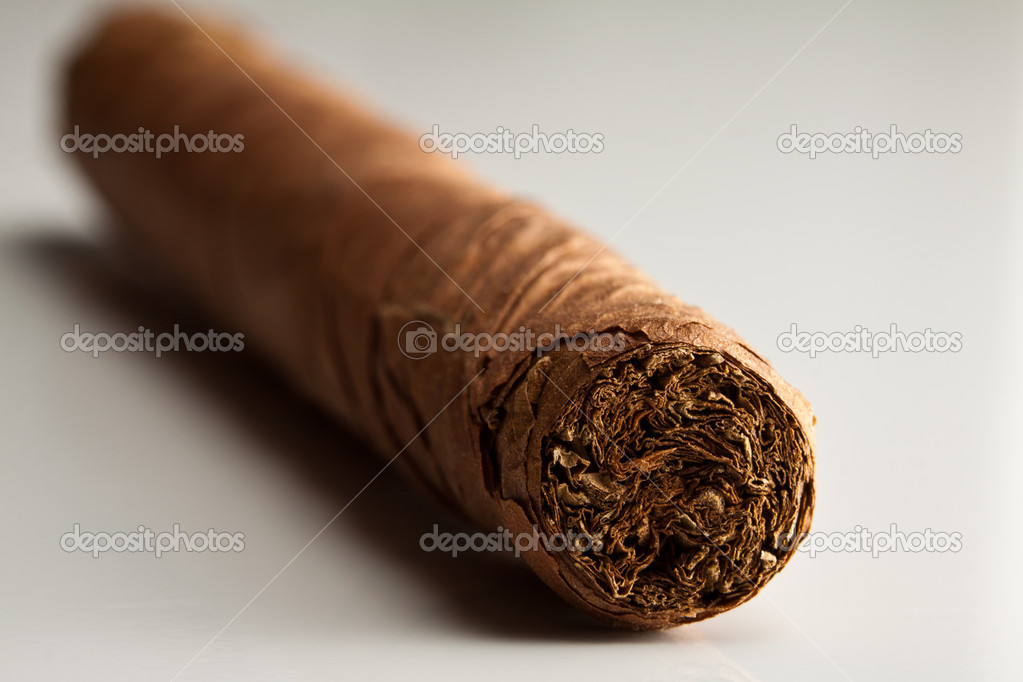 Cigar on white background — Stock Photo #6445570