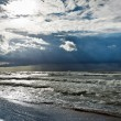 Stock Photo: Storm over baltic sewith sunbeam