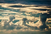 Cumulonimbus clouds at summer — Stock Photo