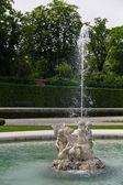 A fountain in castle Belvedere — Stock Photo