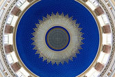 Blue cupola of an art nouveau church — Stockfoto