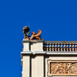 Stok fotoğraf: Winged beast guarding imperial building