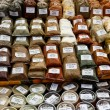 Stock Photo: Herbs and spices on market