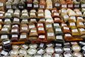Herbs and spices on a market — Stock Photo