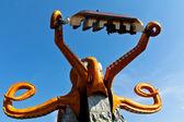 Chobotnice - vzhůru nohama — Stock fotografie