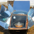 Solar oven in winter — Stock Photo