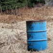 Oil barrel in rural Alaska — Stock Photo