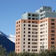 Stock Photo: Old Army Housing in Whittier Alaska