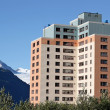 Old Army Housing in Whittier Alaska - Foto Stock