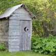 Alaskan outhouse — Stock Photo