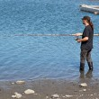Stock Photo: Fishing in the lagoon