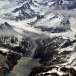 Glaciers, mountains and ice — Stock Photo