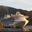 Cruise ship in Juneau Alaska in evening light — 图库照片