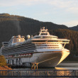 图库照片: Cruise ship in Juneau Alaska in evening light