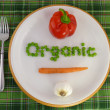 Eat organic — Stock Photo