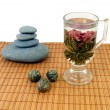 Zen flowering tea - Stock Photo