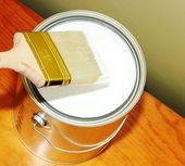 Interior painting project — Stock Photo