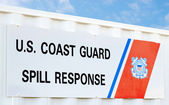 Coast guard Spill Response — Stock Photo