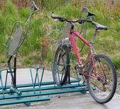 Bird bike stand — Stock Photo
