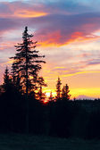 Alaskan sunset — Stock Photo