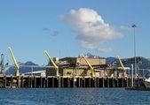 Fish processing dock — Stock Photo