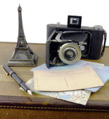 Retro travel still life — Stock Photo