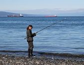 Fishing in the bay — Stock Photo