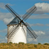 Medieval spanish windmill — Stock Photo