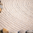 Zen garden close-up — Stock Photo