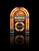 Old Jukebox radio isolated on black — 图库照片