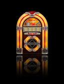 Old Jukebox radio isolated on black — Stock Photo