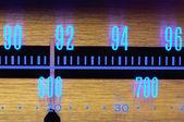 Glowing Radio Dial — Stock Photo