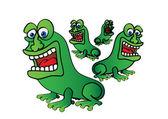 Four frogs — 图库矢量图片
