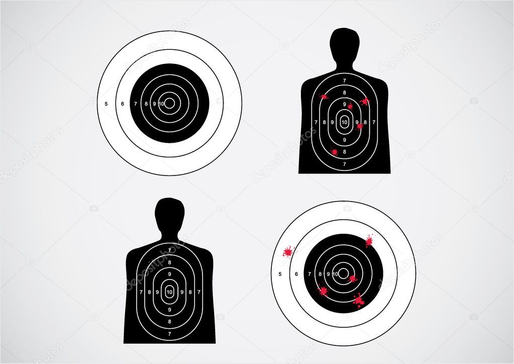 Unused and set the targets - illustration — Stock Vector #6453635