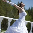 Beautiful making look younger bride — Stock Photo