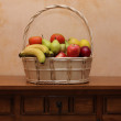 Basket with fruit and vegetable — Stock Photo