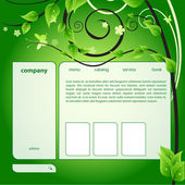 Ecology web page — Stock Vector