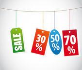 Vector venda rótulos — Vetor de Stock
