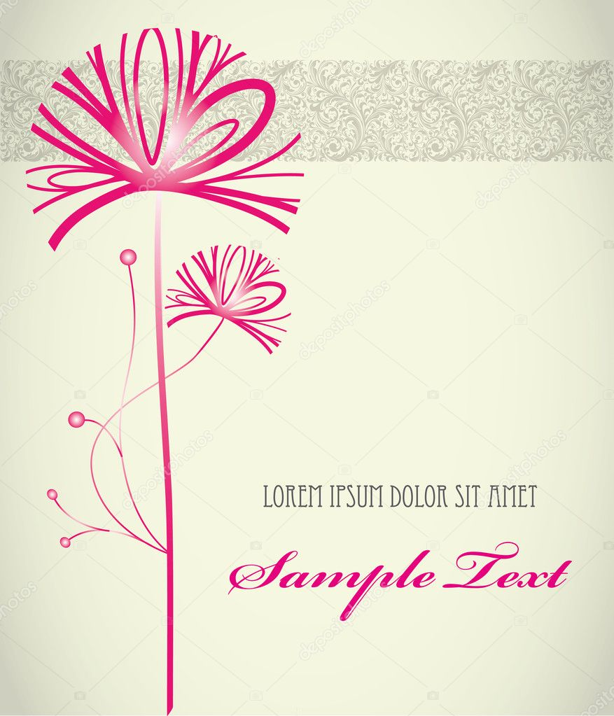 Stylish floral background exclusive wedding  Stock Vector #6671038