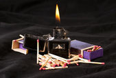 Flame match — Stock Photo