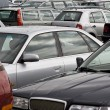 Cars on a parking lot — Stock Photo
