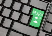 Vacation computer key — Stock Photo